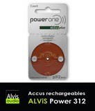 Piles auditives rechargeables T 312